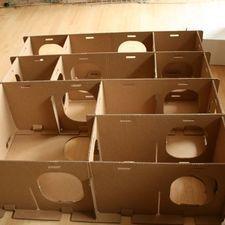 DIY Rabbit Toy cardboard maze