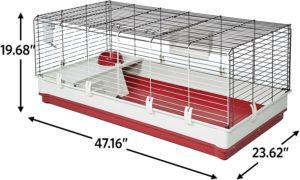 midwest deluxe dimensions best indoor rabbit cage