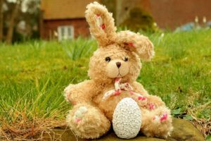 old stuffed toy rabbit