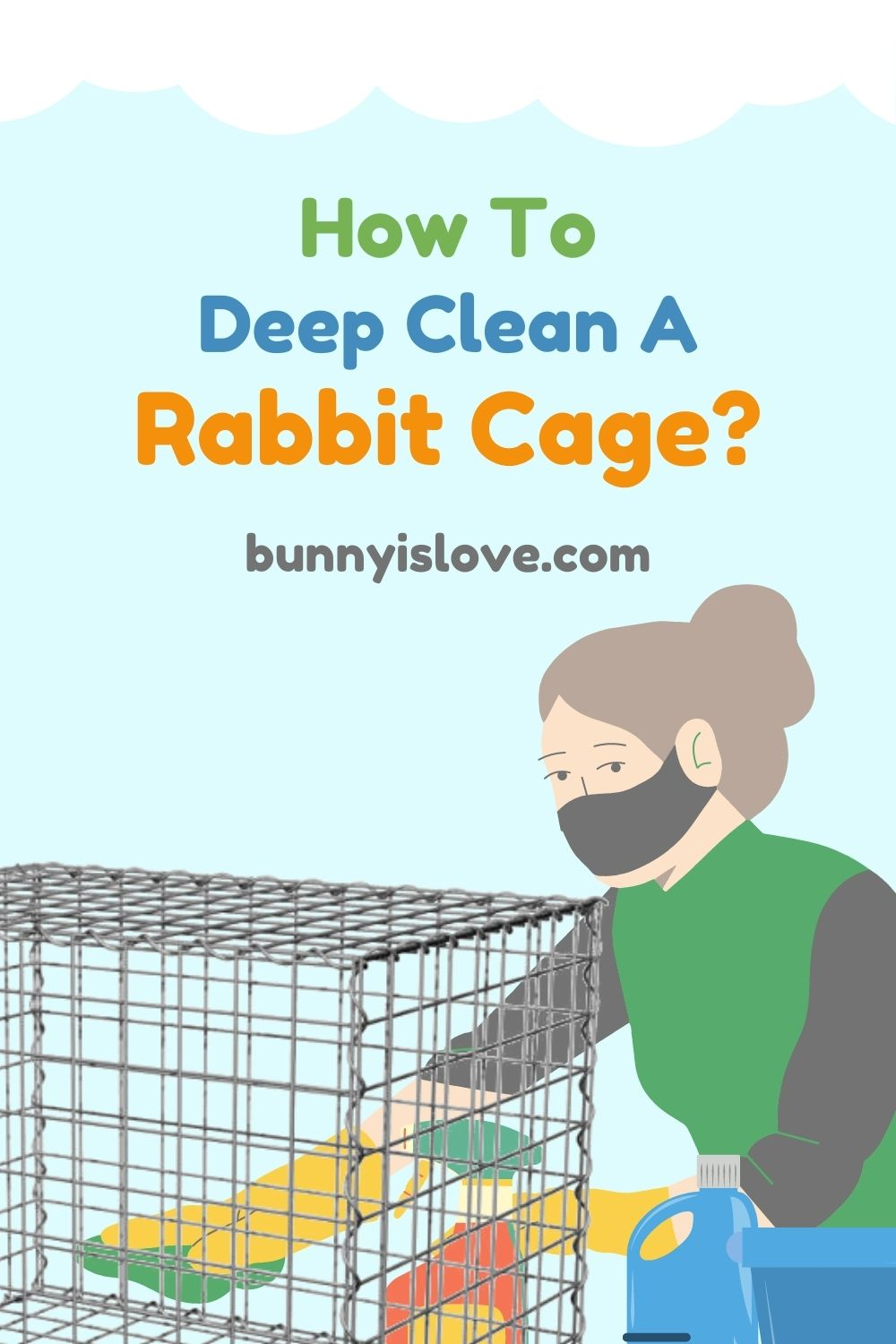 clean a rabbit cage