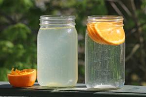 fruit juice in water